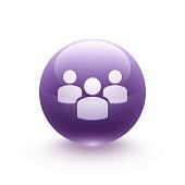 Team work icon sphere