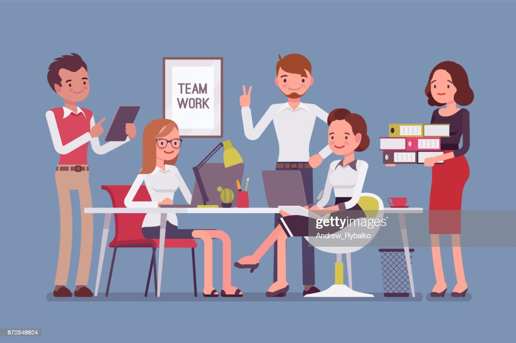 Team work in office