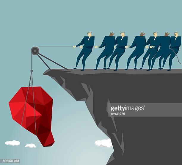 team,conquering adversity,  teamwork, cooperation, adversity - crag stock illustrations, clip art, cartoons, & icons