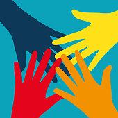 Teamwork, Community, Social Design Flat Concept. Vector Illustra