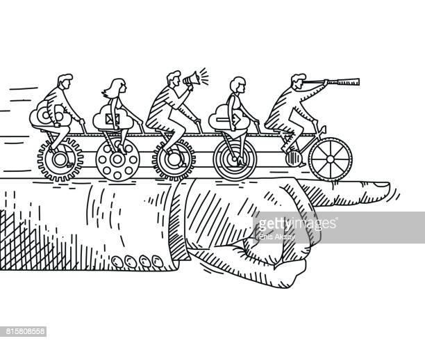 illustrations, cliparts, dessins animés et icônes de concept de travail d'équipe - homme soumis