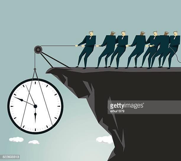 teamwork, cooperation, effort, time, deadline, clock - crag stock illustrations, clip art, cartoons, & icons