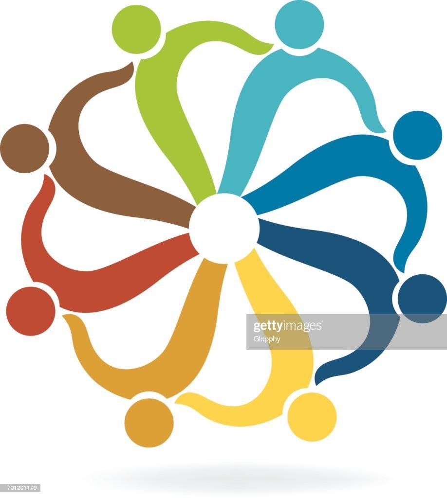 Travail Dquipe Aide Image De Carte Visite Icne Vectorielle Clipart Vectoriel