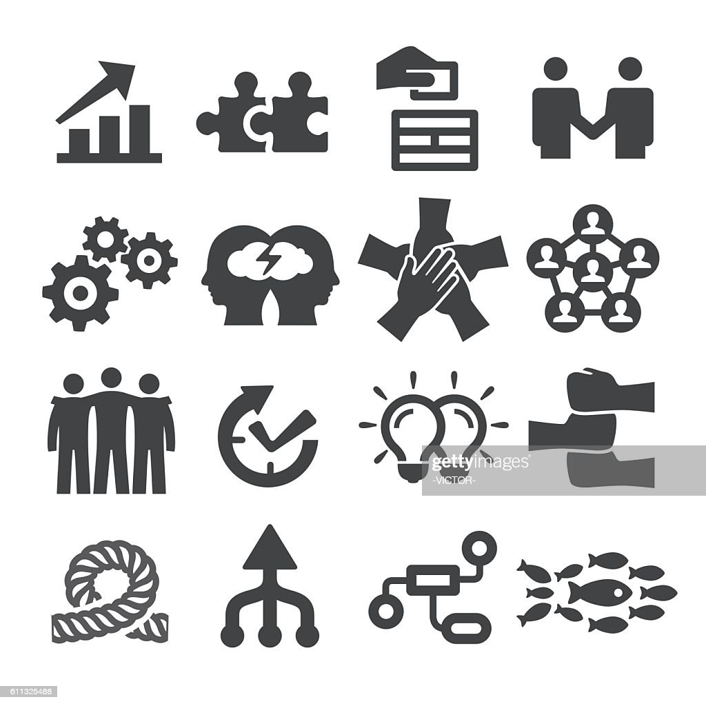 Teamwork Icons Set - Acme Series