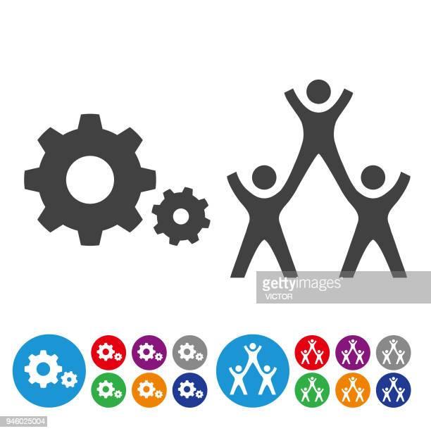 Teamwork Icons Set - Graphic Icon Series