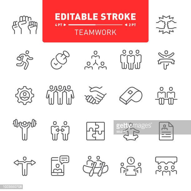 teamwork icons - conflict stock illustrations