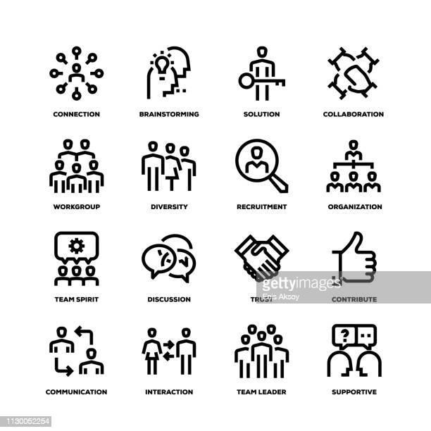 Teamwork Line Icons