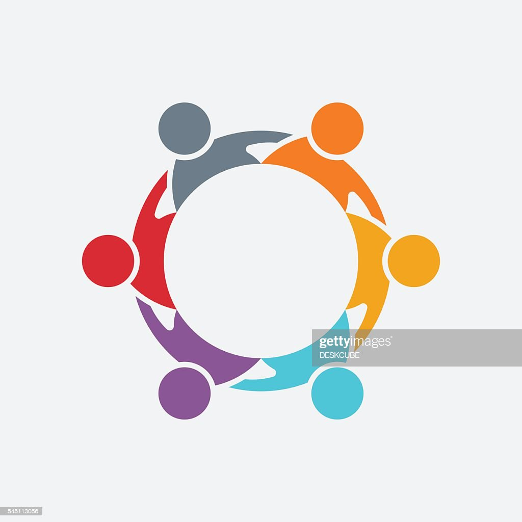 Teamwork People Group Logo. Vector Illustration