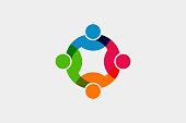 Teamwork Social Network icon. Vector Graphic Illustration