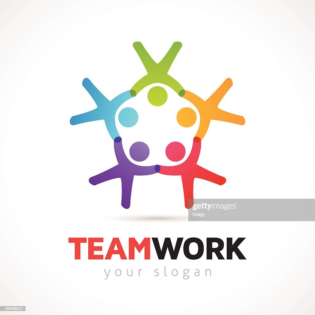 Teamwork Vector Concept With People Symbols