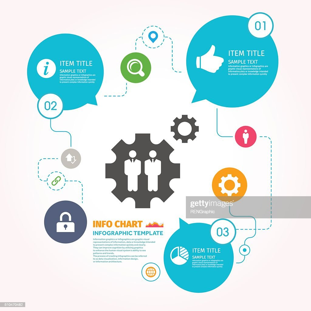 Teamwork Vector Icon Graphic Infographic Template Vector Art | Getty ...