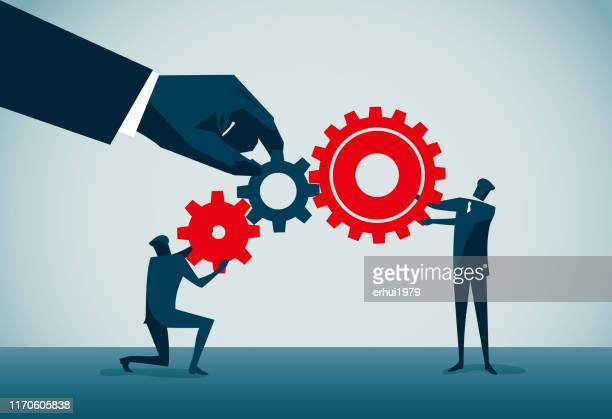 teamwork - partnership teamwork stock illustrations