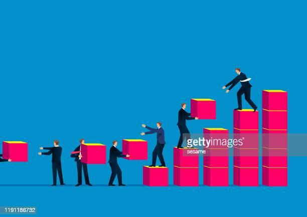 teamwork - visual china group stock illustrations