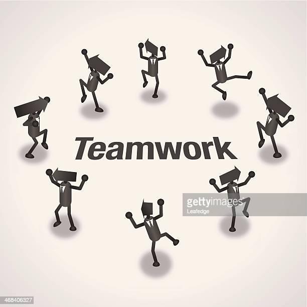 teamwork - surrounding stock illustrations, clip art, cartoons, & icons