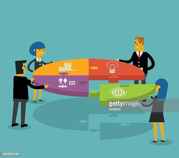teamwork (teamarbeit) - meeting stock-grafiken, -clipart, -cartoons und -symbole