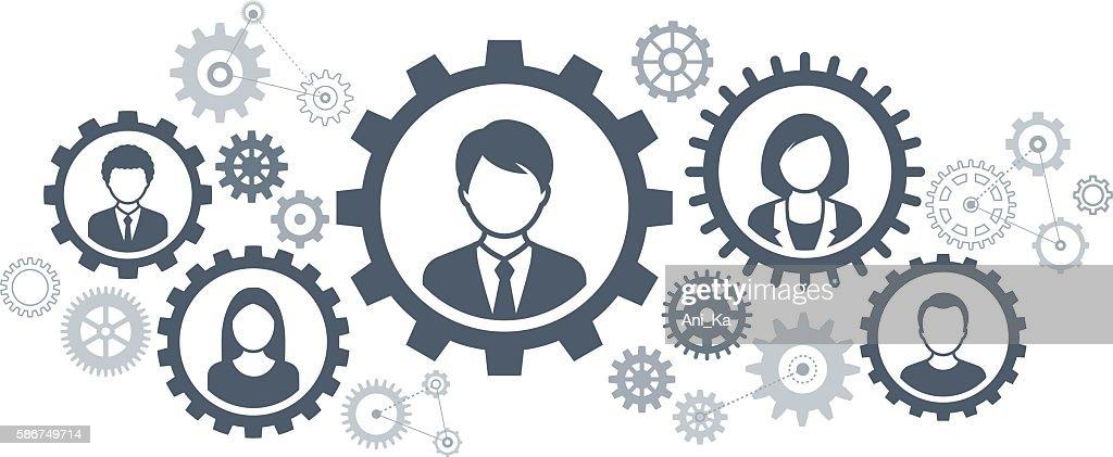 Teamwork : stock illustration