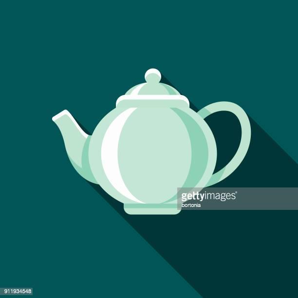 Teapot Flat Design Coffee & Tea Icon