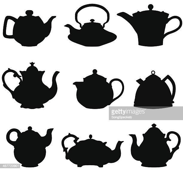 Teapot silhouettes