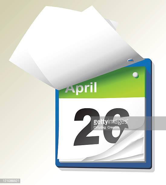 tear off calendar - page stock illustrations