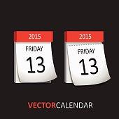 Tear-off Calendar - Friday 13