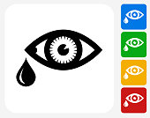 Tears Icon Flat Graphic Design