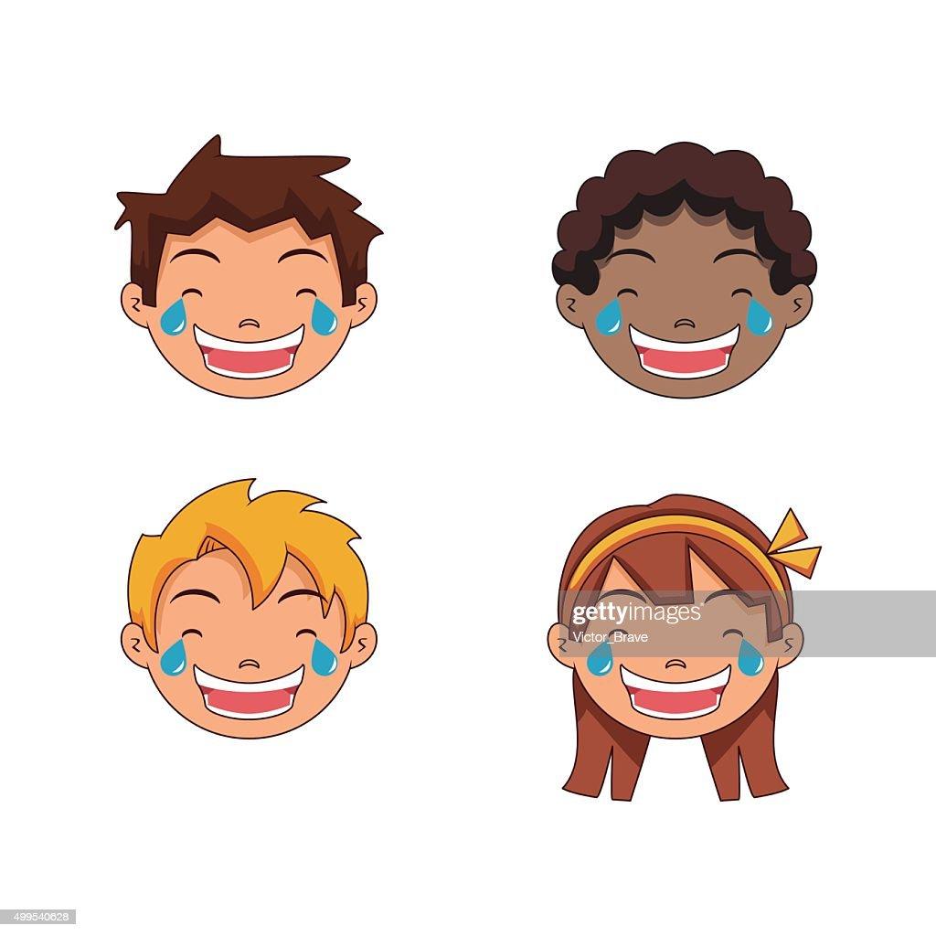 Tears of joy, children emoji