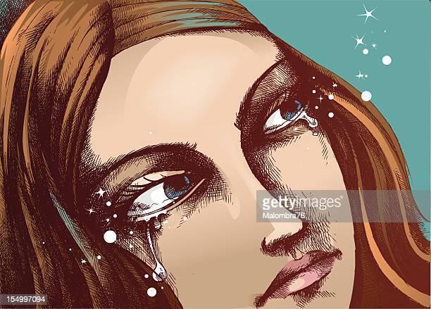 tears - teardrop stock illustrations