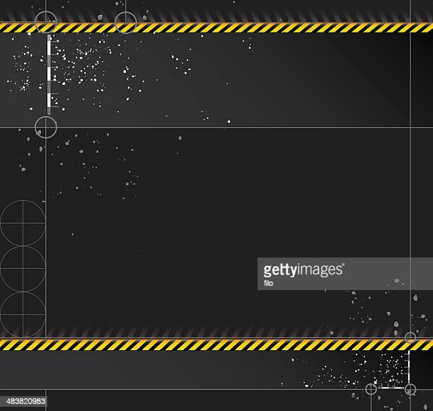 Tech Caution Border [vector]