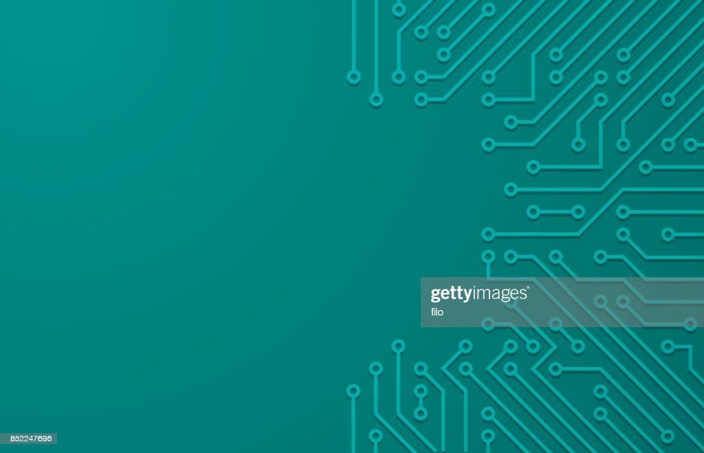 Tech Circuit Board Background Vector Art | Getty Images