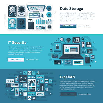 Tech Services Web Banner Set - gettyimageskorea