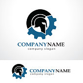 Tech Warrior Symbol Template Design Vector, Emblem, Design Concept, Creative Symbol, Icon