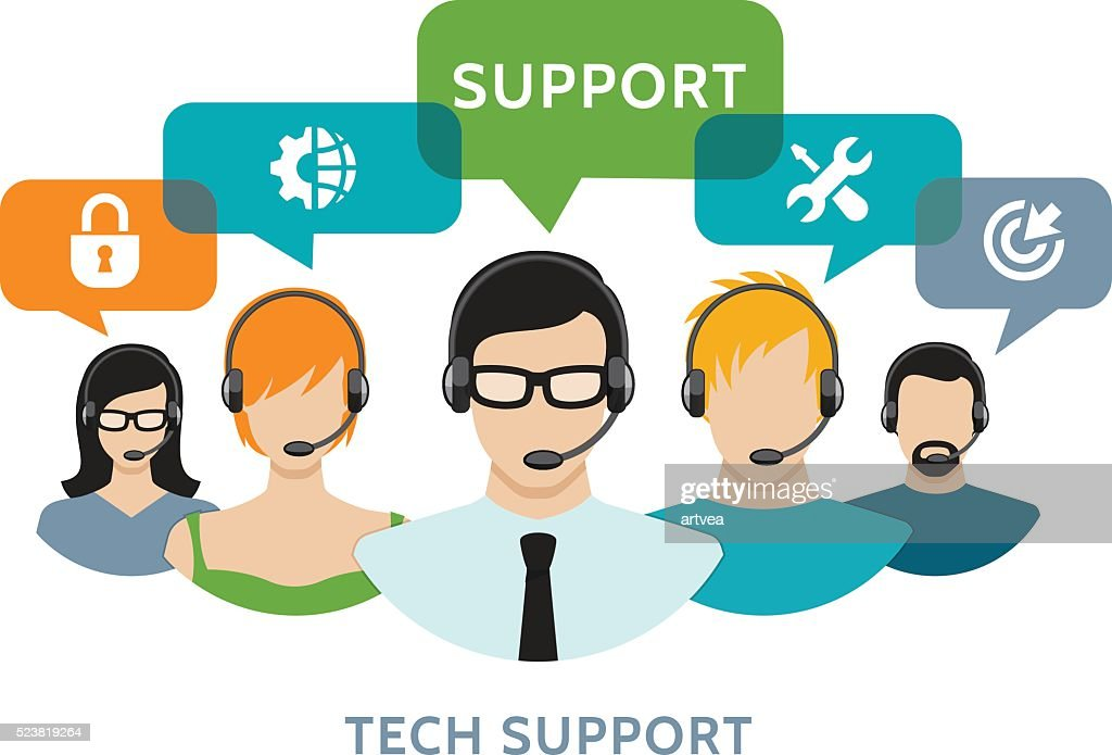 Technic Support Concept : stock illustration