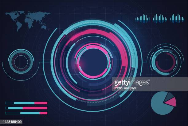 hud - technical background - graphical user interface stock illustrations