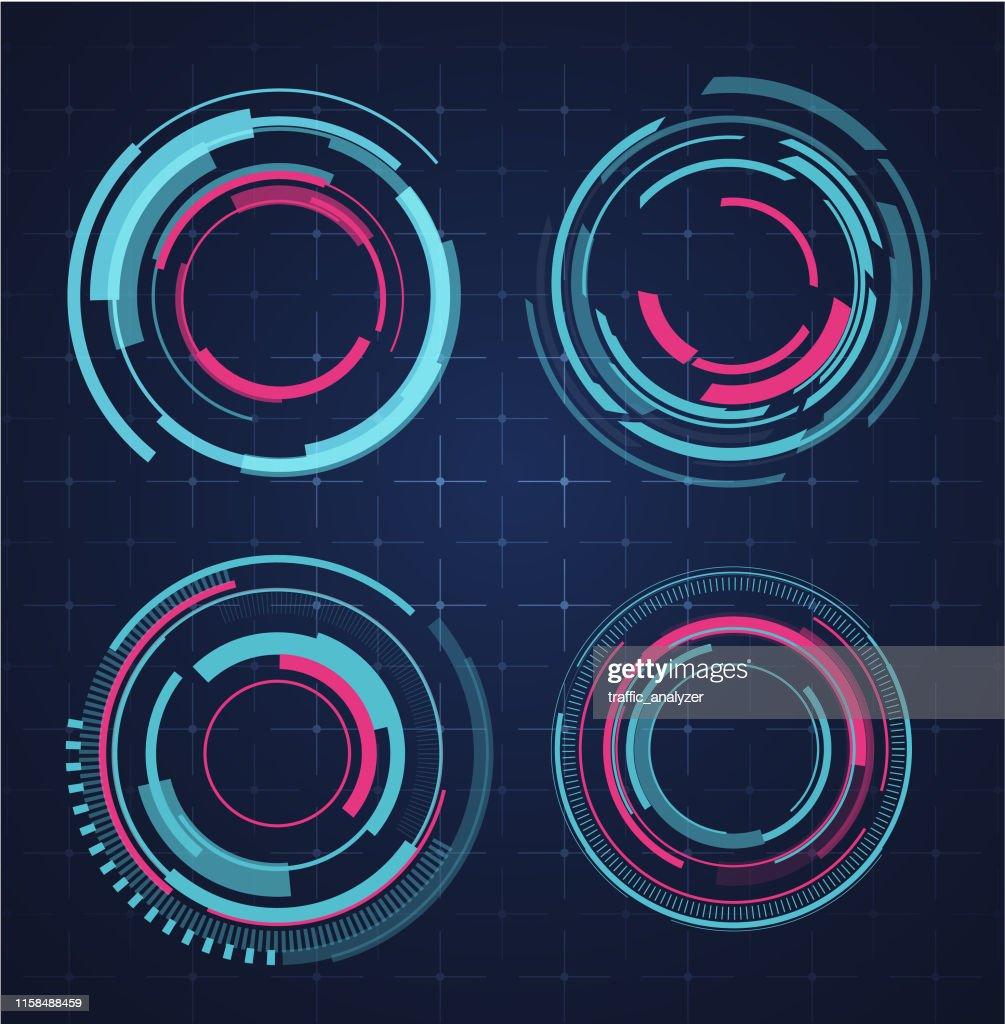 HUD - technical background : stock illustration