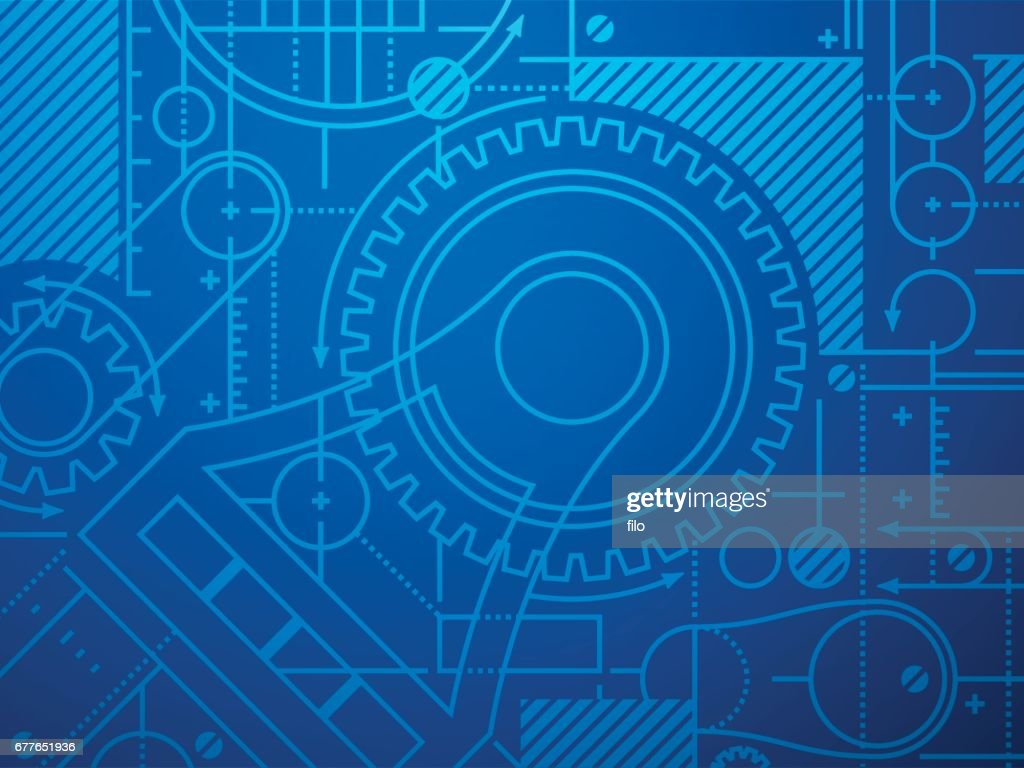 Technical Blueprint Abstract Background : stock illustration
