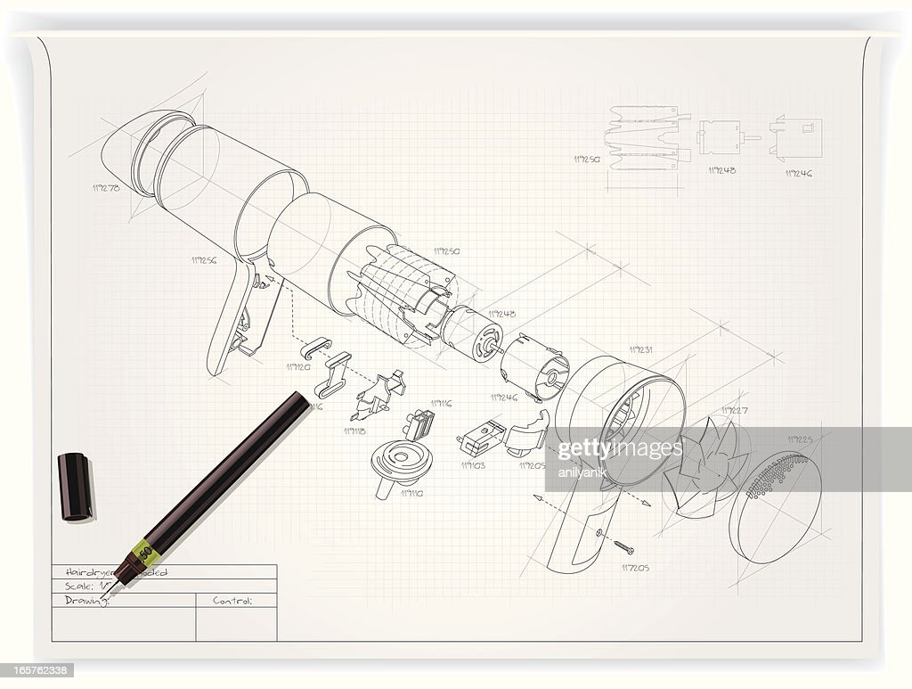 technical drawing : stock illustration