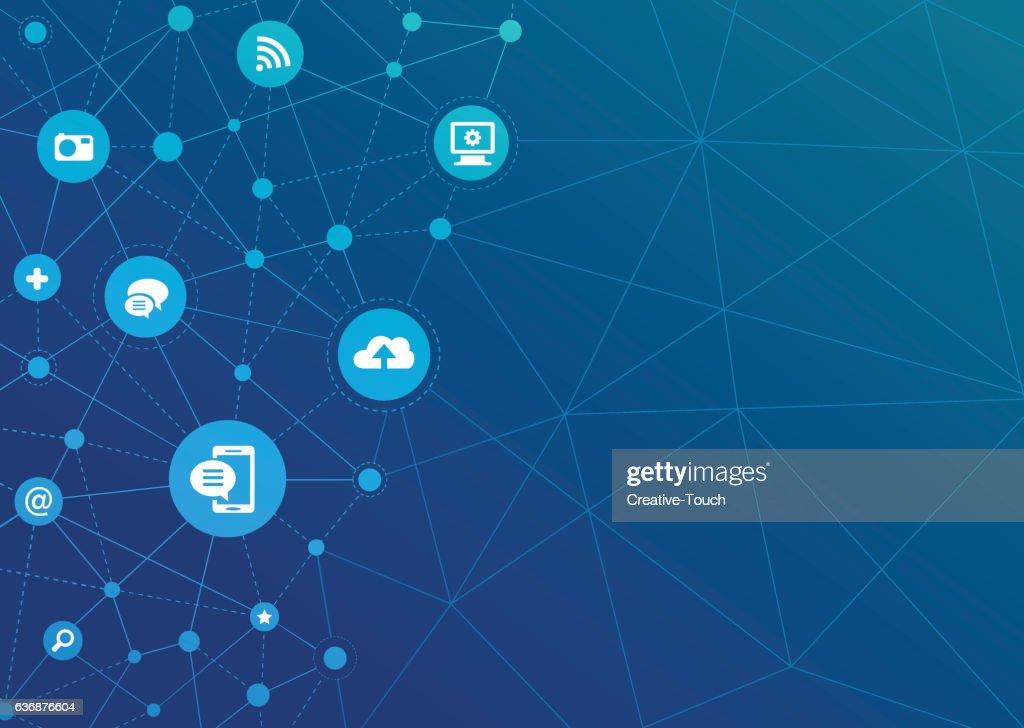 Technologic Network Dots - Communication