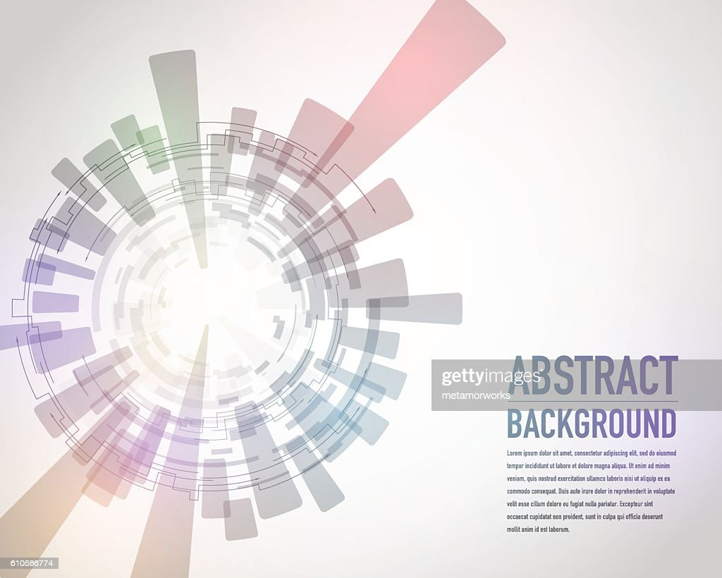 technological abstract image, concentration and rotation