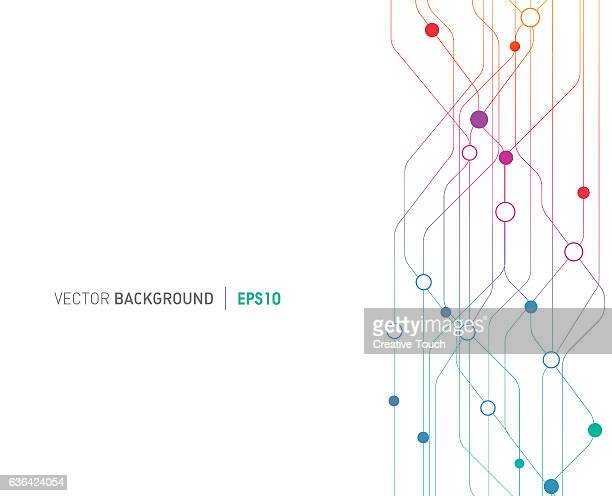 Technological Lines Connections Background