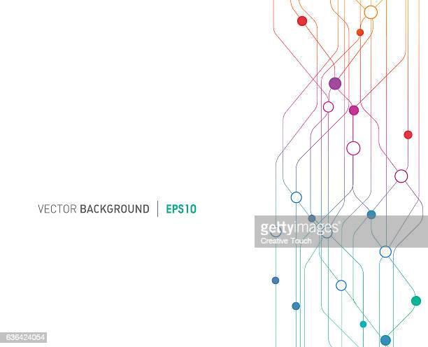 ilustrações, clipart, desenhos animados e ícones de linhas de fundo tecnológico conexões  - network