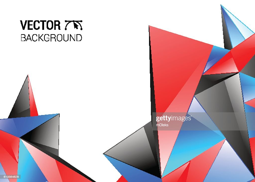 Technology Abstract Background Burst Vector Red Blue Black
