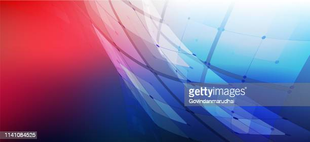 technology abstract background - red and blue background stock illustrations