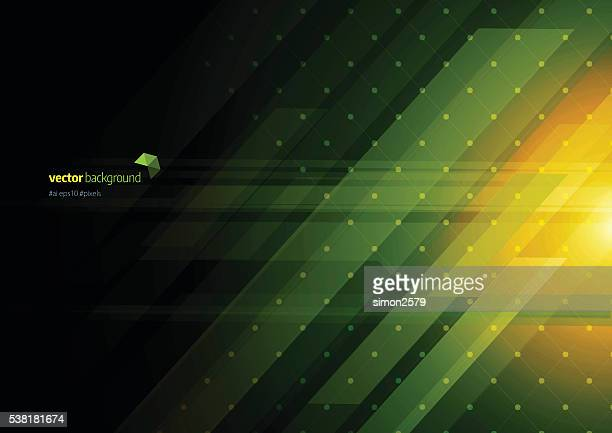 technology abstract background - green background stock illustrations, clip art, cartoons, & icons