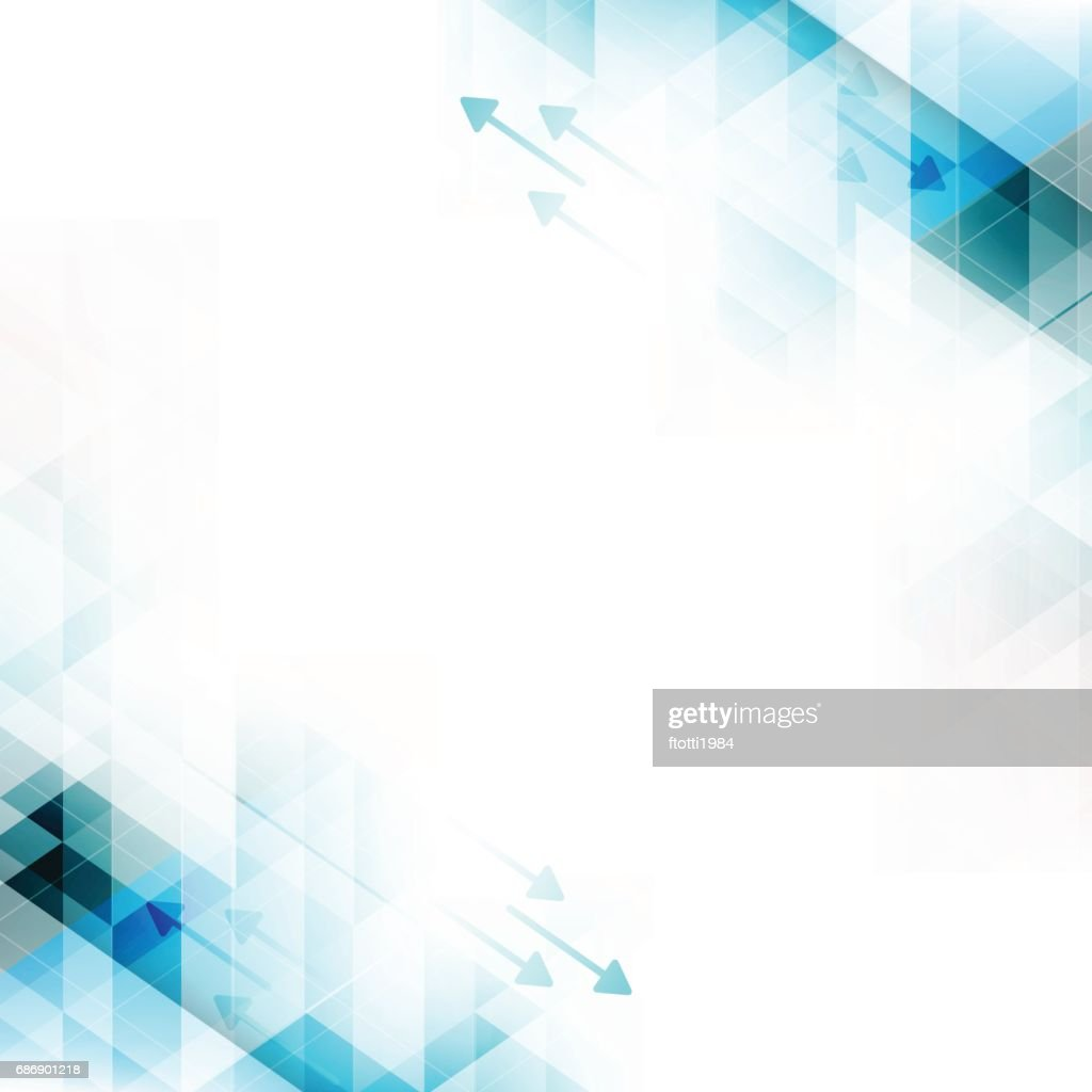 Technology abstract vector background with arrows and triangles.