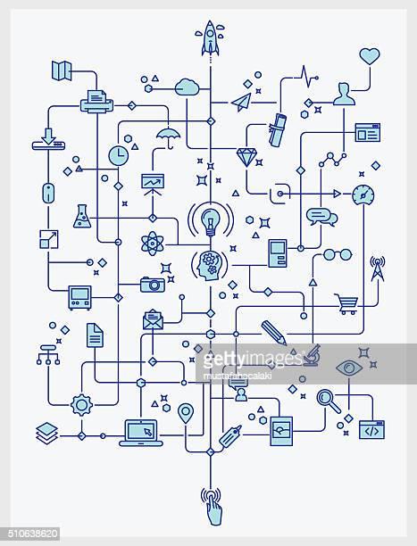 """Technik und Kreativität-Prozess """" Line Drive"""