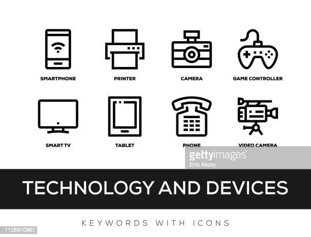 Technology and Devices Keywords With Icons