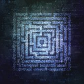 Technology Background Design with square maze. Business concept. Vector illustration.