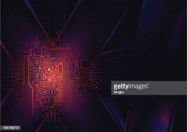 technology background - computer chip stock illustrations, clip art, cartoons, & icons