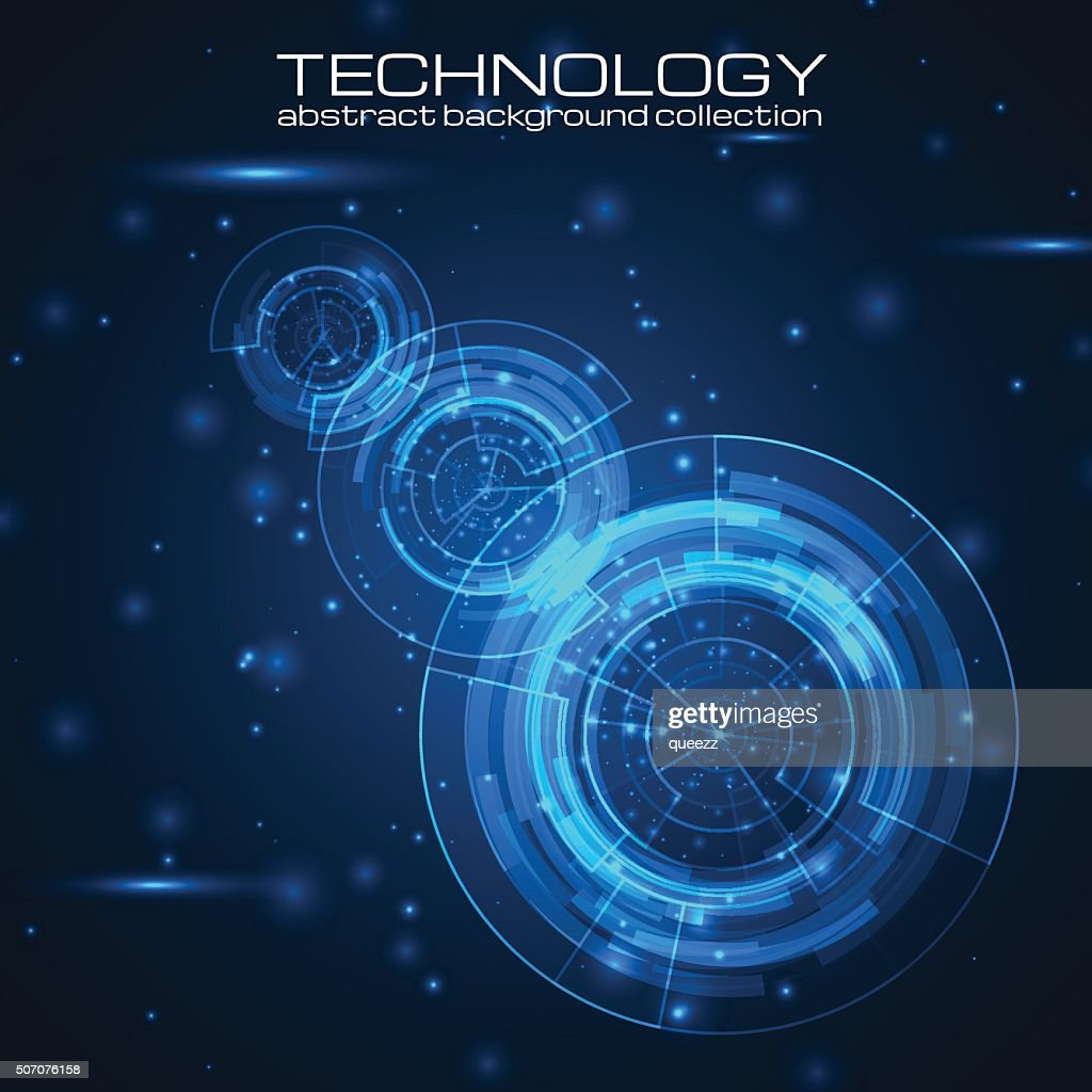 Technology background with HUD elements