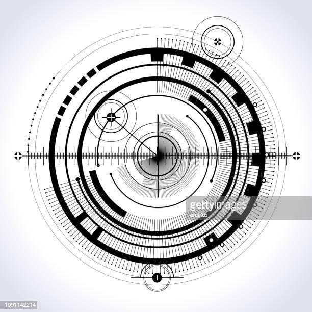 ilustrações de stock, clip art, desenhos animados e ícones de technology circle - armadefogo